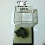 Diopside natural Crystal specimen in display case